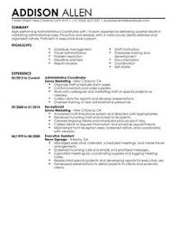 Project Coordinator Resume Examples by Administrative Assistant Resume Template Entry Level