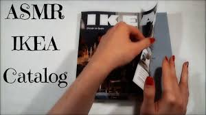asmr flipping through ikea catalog calm caress youtube