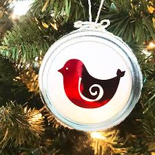 how to make pretty bird ornaments the country