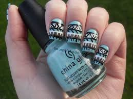 tribal print nail art displaying 19 u003e images for black and white