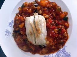 cuisine raie recette de ballotines de raie sur lit de ratatouille compatible