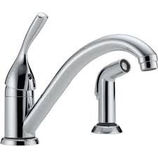 kitchen faucet with sprayer delta classic single handle standard kitchen faucet with side