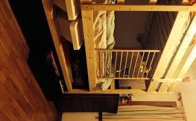 Ikea Loft Bed Mydal Bunk Bed Hack Added Height Shelf And Malm Drawers Ikea