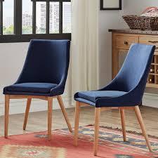 homesullivan nobleton twilight blue linen dining chair set of 2