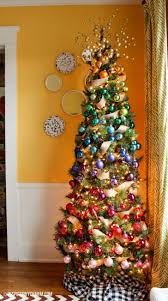 Decorated Christmas Trees Hgtv by Christmas Flocked Christmas Tree Ideas Unique Decorating