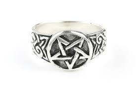 wiccan engagement rings pentagram ring sterling silver pentacle ring 925 ring