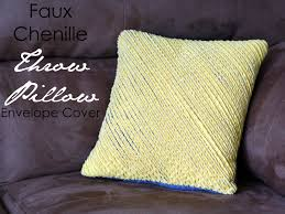 Washing Chenille Sofa Covers Running With Scissors Faux Chenille Throw Pillow