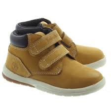 timberland kids toddler tracks velcro boot in wheat in wheat
