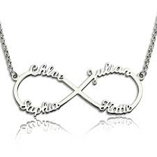 infinity necklace with initials personalized infinity necklace with 4 names