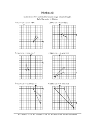 dilations math worksheet free worksheets library download and