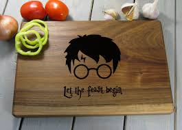 harry potter cutting board christmas gift let the feast