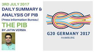 information bureau 3rd july 2017 press information bureau summary and analysis