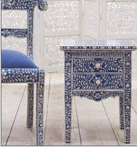 Bone Inlay Chair Keeping It Realtor Royal Blue Bone Inlay Chair And Other Stuff
