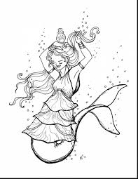 magnificent mermaid coloring pages kids with mermaids coloring