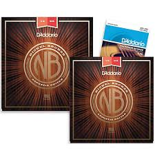 d addario ej16 phosphor bronze light acoustic guitar strings d addario nb1356 nickel bronze medium acoustic strings 2 pack with