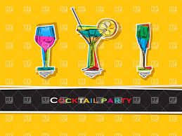 pop art cocktail party card vector image 21084 u2013 rfclipart
