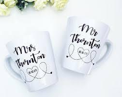 his and mug anniversary mugs etsy
