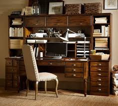 Desks With Bookcase Printer U0027s Bookcase Hutch Pottery Barn