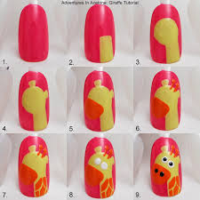 tutorial tuesday giraffe nail art adventures in acetone