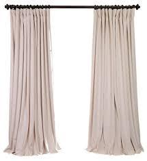 100 Curtains Signature Ivory Doublewide Blackout Velvet Curtain Single Panel