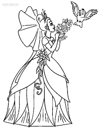disney princess color page printable princess tiana coloring pages for kids cool2bkids