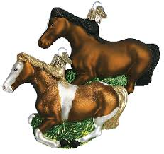 world ornaments horses kerstboom ornamenten
