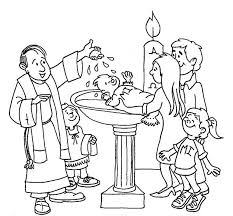 stunning baptism coloring pages printables images printable