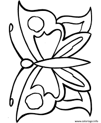 coloriage papillon facile 44 dessin