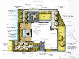 Hand Rendered Floor Plan Private Garden Design For A Project In Waddinxveen In The