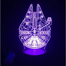 star wars millennium falcon 3d led lamp cool bedroom night light