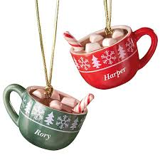 mug ornament forever friends hot cocoa mug 2 ornament set by lenox