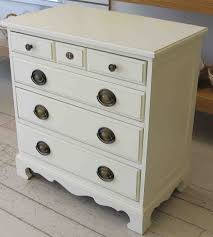 Small Bedroom Night Tables Small Bed Side Tables With Classy White Painting And 5 Drawers As
