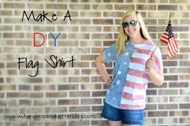 How To Make Your Own Flag Make Your Own Diy Flag Shirt Tutorial Handmade Is Better