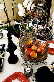 elegant tablescape red black and white the style sisters