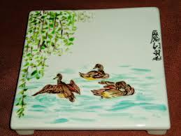 porcelaine peinte main plume magicienne peinture chinoise xieyi sur porcelaine les