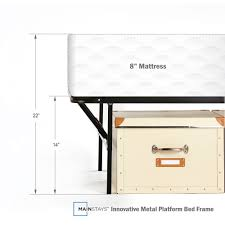 King Size Bed Dimensions Height Mainstays 14