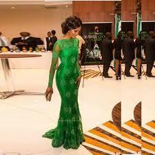 aliexpress com buy green lace nigerian evening dress mermaid