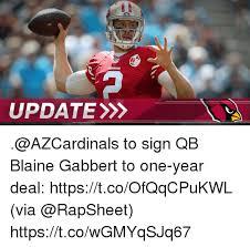 Blaine Gabbert Meme - update to sign qb blaine gabbert to one year deal