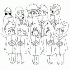 naruto akatsuki coloring pages kids adults