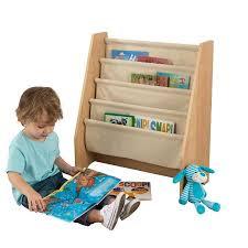 Fabric Sling Bookshelf Kidkraft Sling Bookshelf Natural Walmart Com