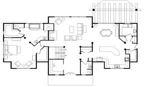 base camp log home floor plan main floor log home open floor log