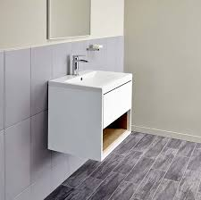 Wall Hanging Vanity Units Lincoln 600 Basin And White Oak Wall Mounted Vanity Unit Bathstore