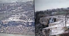 Image of Niagara Falls drained