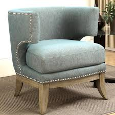 Barrel Accent Chair Mid Century Modern Barrel Back Design Soft Blue Accent Chair With