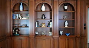 Cherry Wood Bookcase With Doors Bookcases Custom Cabinetry By Ken Leech