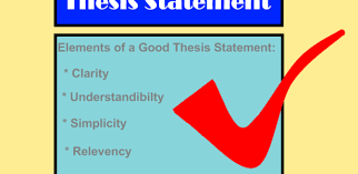 write a good thesis statement elements of a good thesis statement
