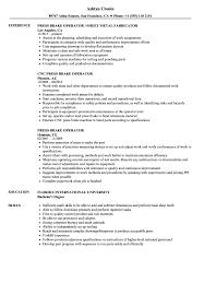 resume format exles for steel fabrication press brake operator resume sles velvet jobs