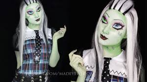 frankie stein makeup tutorial monster high youtube