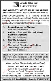 mechanical engineering jobs in dubai for freshers 2013 nissan design engineering manger architect job opportunity 2018 jobs