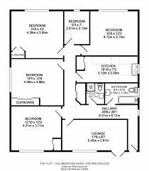 four bedroom flat plan home design ideas